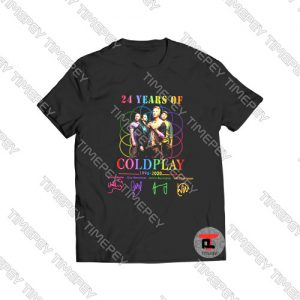 24 Years Of Coldplay 1996 2020 Viral Fashion T Shirt