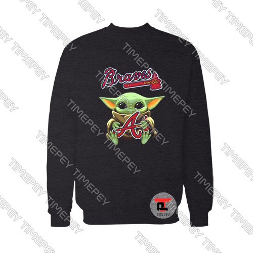 Baby Yoda Hug Atlanta Braves Viral Fashion Sweatshirt