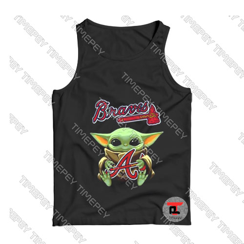 Baby Yoda Hug Atlanta Braves Tank Top