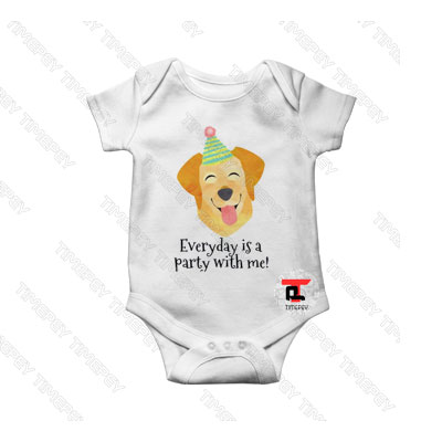 Everyday is a Party with me Baby Onesie