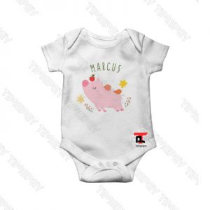 Flying Pig Personalized Baby Onesie
