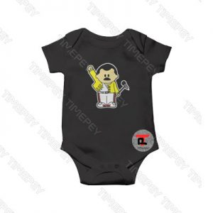 Freddie Mercury Queen Inspired Cartoon Baby Onesie
