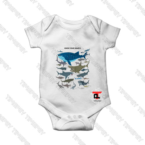 Know-Your-Sharks-Kids-Baby-Onesie
