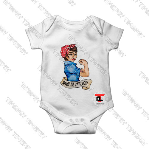 SMASH-the-patriarchy-rosie-riveter-Baby-Onesie