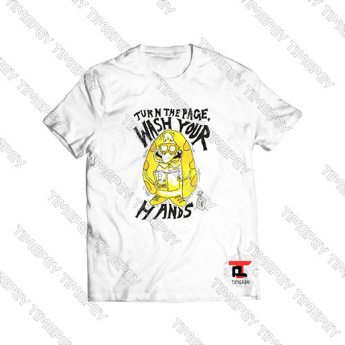 Turn-the-Page-Wash-Your-Hands-Cartoon-Art-Shirt