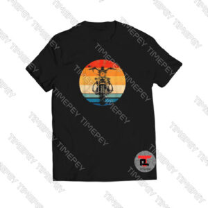 Biker-Motorcycle-Silhouette-T-Shirt-For-Men-and-Women-S-3XL