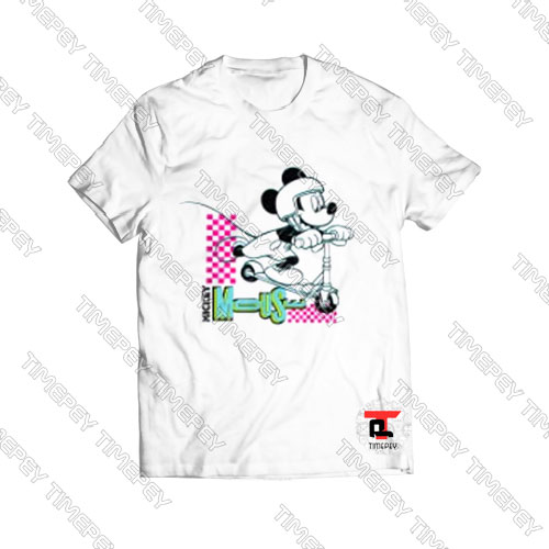 Disney-Mickey-Mouse-Scooter-T-Shirt-For-Men-and-Women-S-3XL