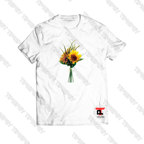 Sunflower-Bouquet-Yellow-T-Shirt-For-Women-and-Men-S-3XL