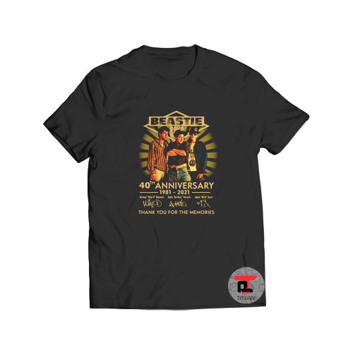 Beastie Boys 40th Anniversary T Shirt American Rap Rock S-3XL