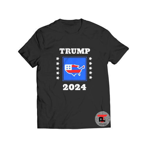 Trump 2024 Election T Shirt Flag America Great S-3XL