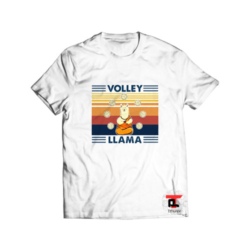 Volley Llama Vintage T Shirt For Men and Women S-3XL