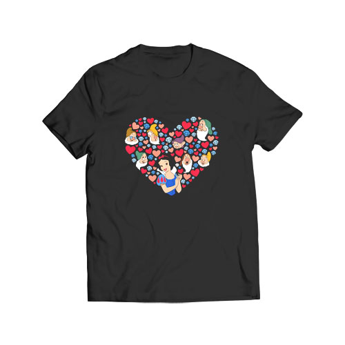 Snow White Heart Valentines Day T Shirt