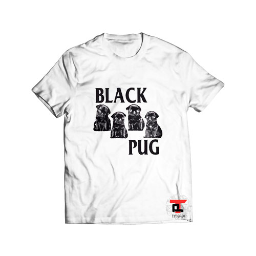 Black Pug Dog T Shirt