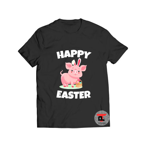 Cute Piglet Happy Easter Day 2021 T Shirt