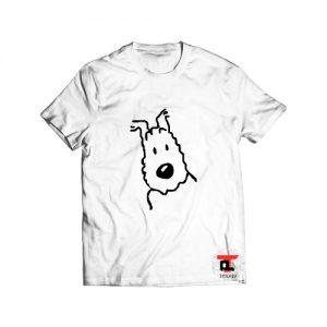 Snowy tintin dog t shirt