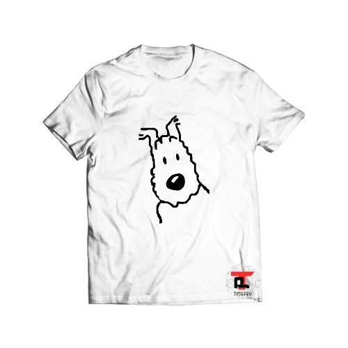 Snowy tintin dog t shirt