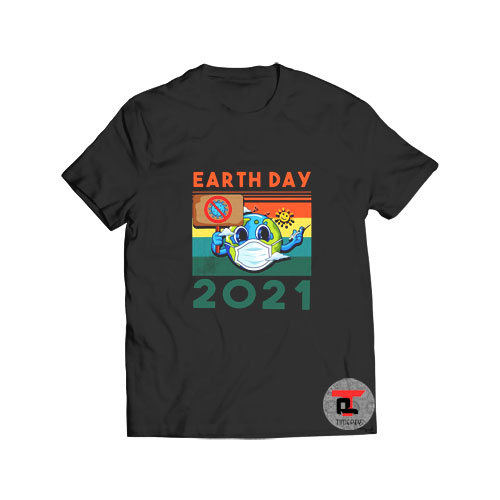 Planet Earth Wearing Mask Earth Day T Shirt