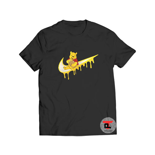 Winnie the Pooh Embroidered Swoosh T Shirt