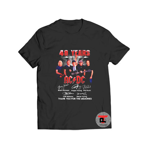 48 years 1973 2021 ACDC thank you for the memories Viral Fashion T Shirt
